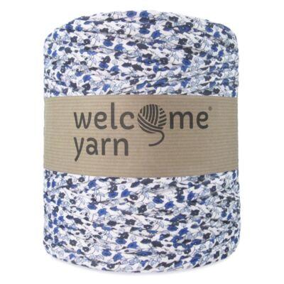 WelcomeYarn pólófonal - Kék apró virágok