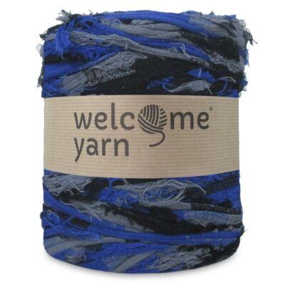 WelcomeYarn pólófonal - Kék és szürke fuzzy
