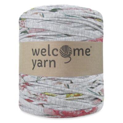 WelcomeYarn pólófonal - Szürke virágmintás