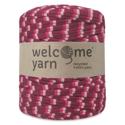 WelcomeYarn pólófonal - Pink árnyalatok csíkos