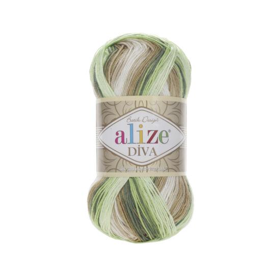 Alize Diva Batik - Zöld, bézs