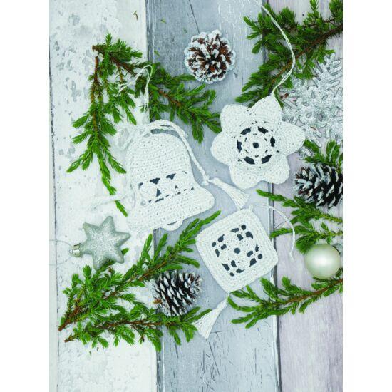 Anchor horgolt karácsonyi díszek szett - fehér