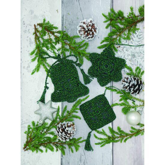 Anchor horgolt karácsonyi díszek szett - zöld