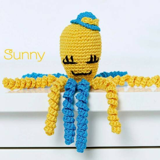 Anchor amigurumi szett - POLIP - Sunny