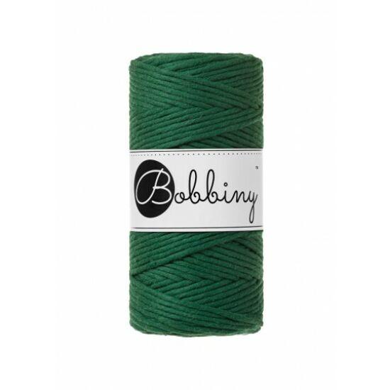 Bobbiny_makramé_fonal_3 mm_pine_green