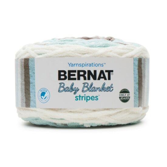 Bernat Baby Blanket Stripes - Tiny Teal