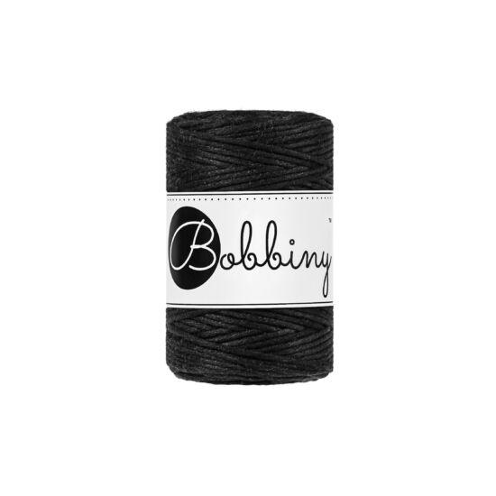 Bobbiny Baby makramé fonal 1,5 mm - Fekete