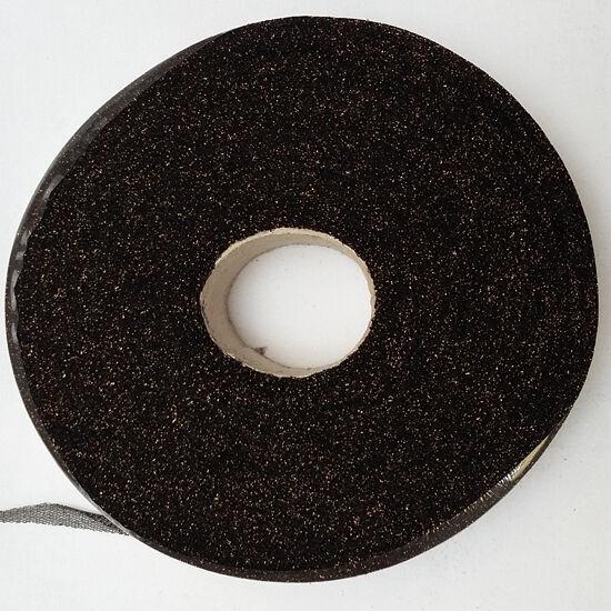 Fettuccia - lurex - fekete-arany 350 g