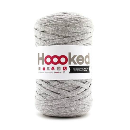 Hoooked szalagfonal - Silver Grey- Ribbon XL