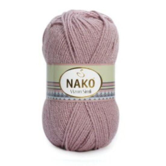 Nako Vision Simli csillogó fonal - vintage lila - 1429