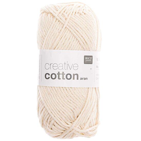 Rico Creative Cotton 100% vastag pamut - natúr