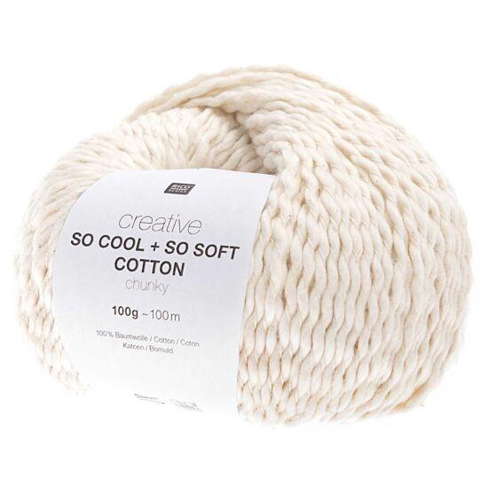 Rico So Cool + So Soft Cotton Chunky - krém