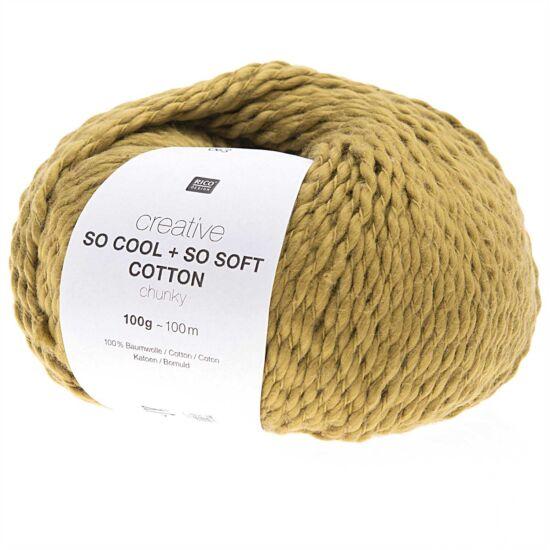 Rico So Cool + So Soft Cotton Chunky - sötét mustár