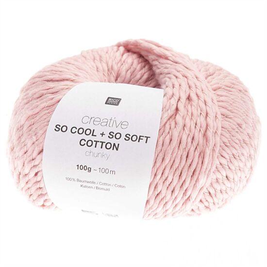 Rico So Cool + So Soft Cotton Chunky - babarózsa