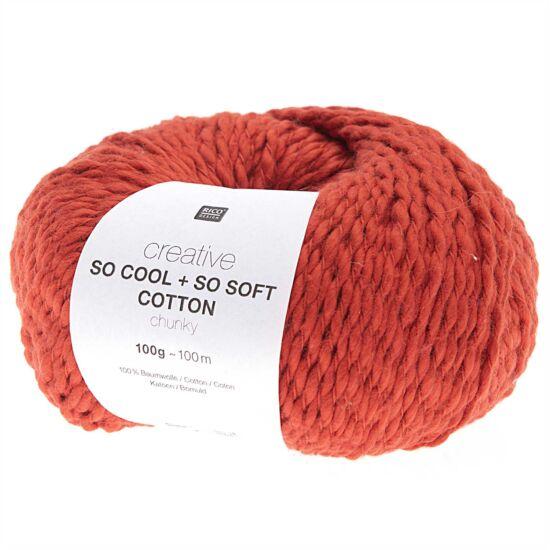 Rico So Cool + So Soft Cotton Chunky - piros