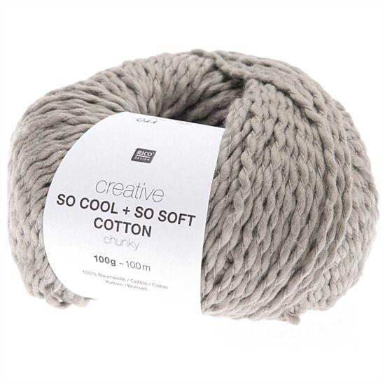 Rico So Cool + So Soft Cotton Chunky - szürke