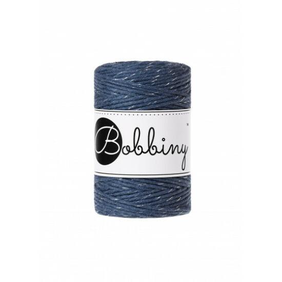 Bobbiny makramé fonal 1,5 mm - 2020 Karácsony jeans ezüstszállal
