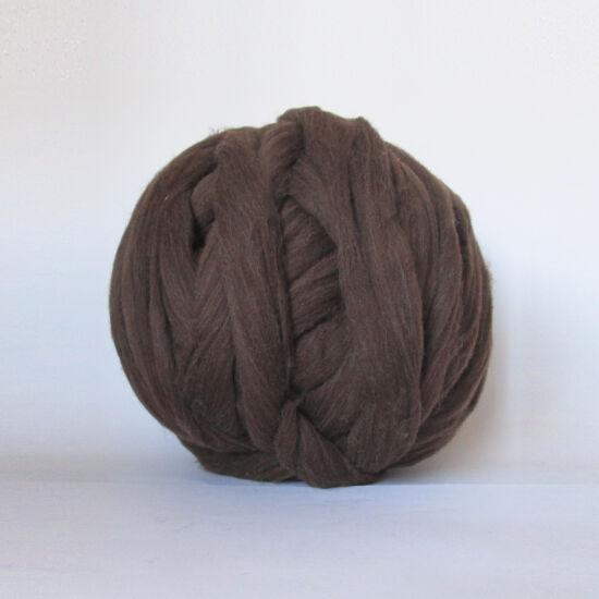 Merinó gyapjú, szalaggyapjú - barna szín 1 kg