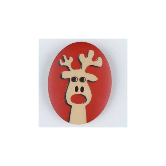 Dill gomb - Karácsony - Rudolf - piros