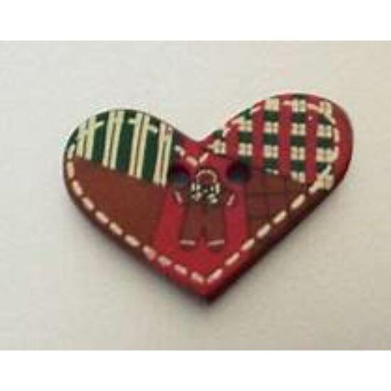 Dill gomb - Karácsony - Patchwork szív