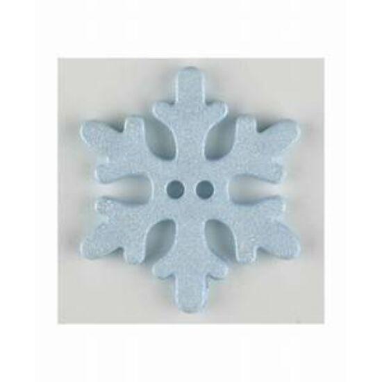 Dill gomb - Karácsony - hópehely kék