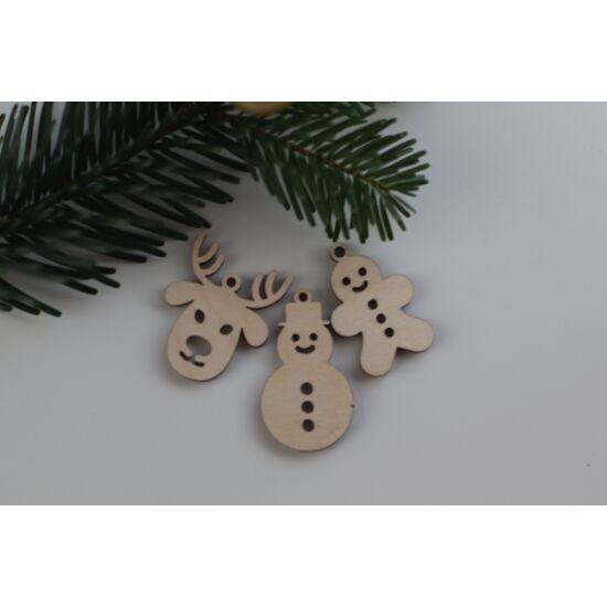 Fa karácsonyi figurák csomag - vidám figurák