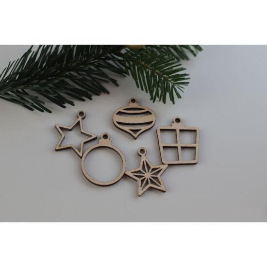 Fa karácsonyi figurák csomag - áttört filigrán