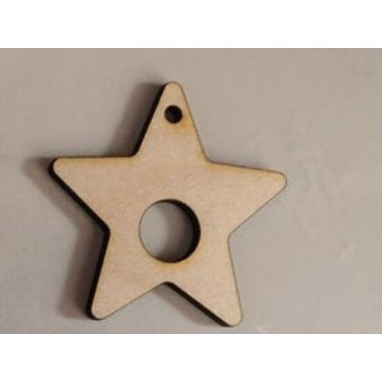 Makraméalap - csillag lyukas