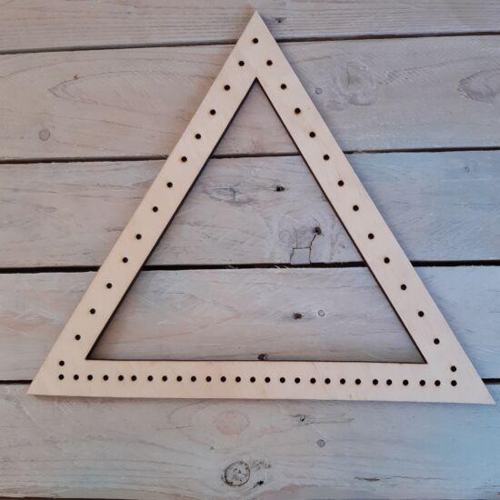 Perforált háromszög szövőkeret - makraméalap