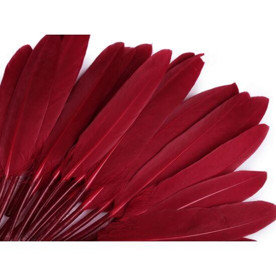 Dísz kacsa toll hossza 9-14 cm - kárminpiros