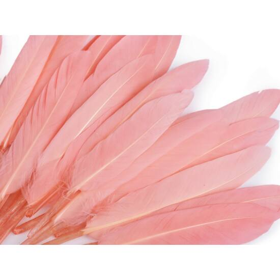 Dísz kacsa toll hossza 9-14 cm - világos korall