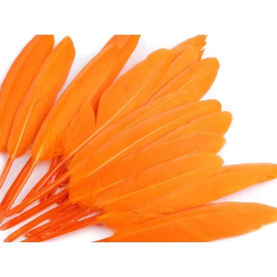 Dísz kacsa toll hossza 9-14 cm - narancs