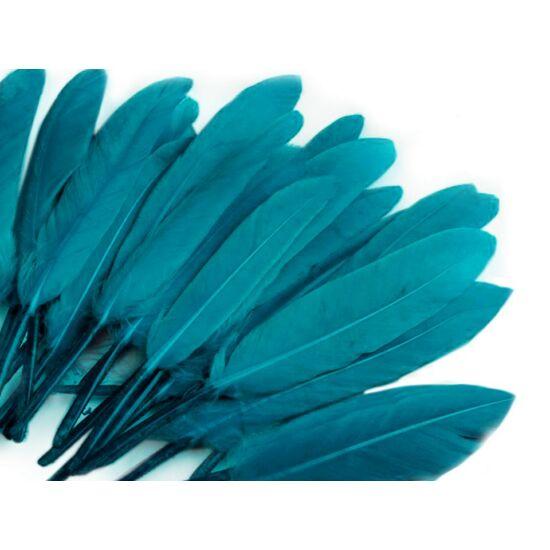 Dísz kacsa toll hossza 9-14 cm - pantone kék
