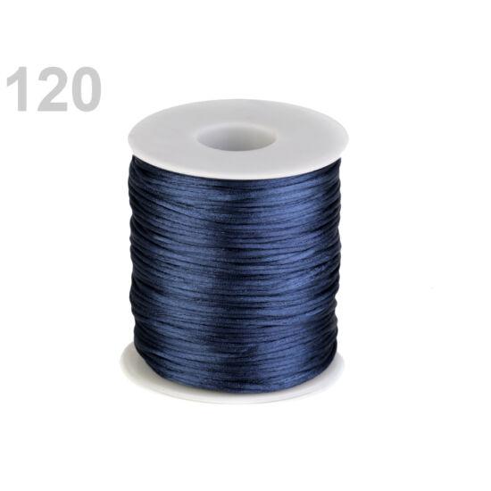 Szatén zsinór, patkányfarka 1 mm - Estate Blue