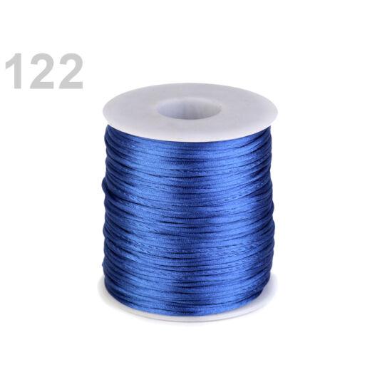 Szatén zsinór, patkányfarka 1 mm - Delft kék
