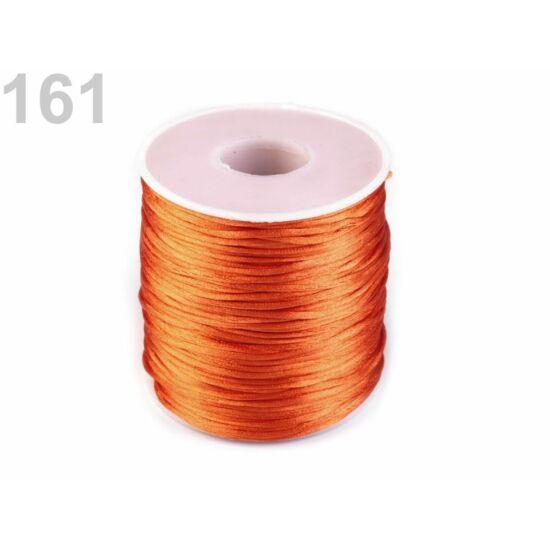 Szatén zsinór, patkányfarka 1 mm - sun orange