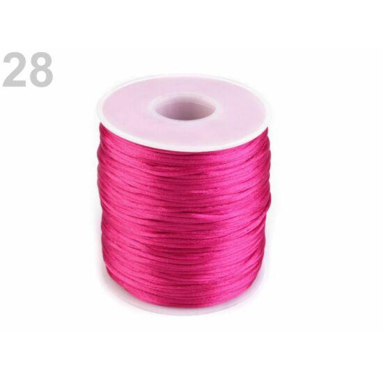 Szatén zsinór, patkányfarka 1 mm - Paradise Pink