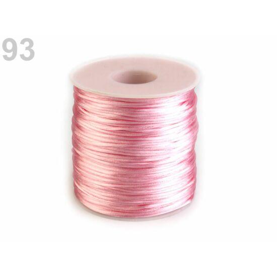 Szatén zsinór, patkányfarka 1 mm - Candy Pink