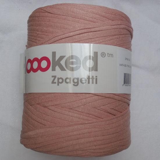 Zpagetti pólófonal - vintage rózsaszín