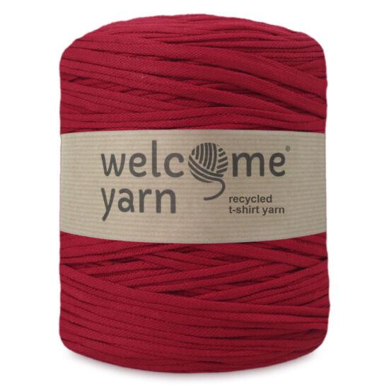 WelcomeYarn pólófonal - sötét piros